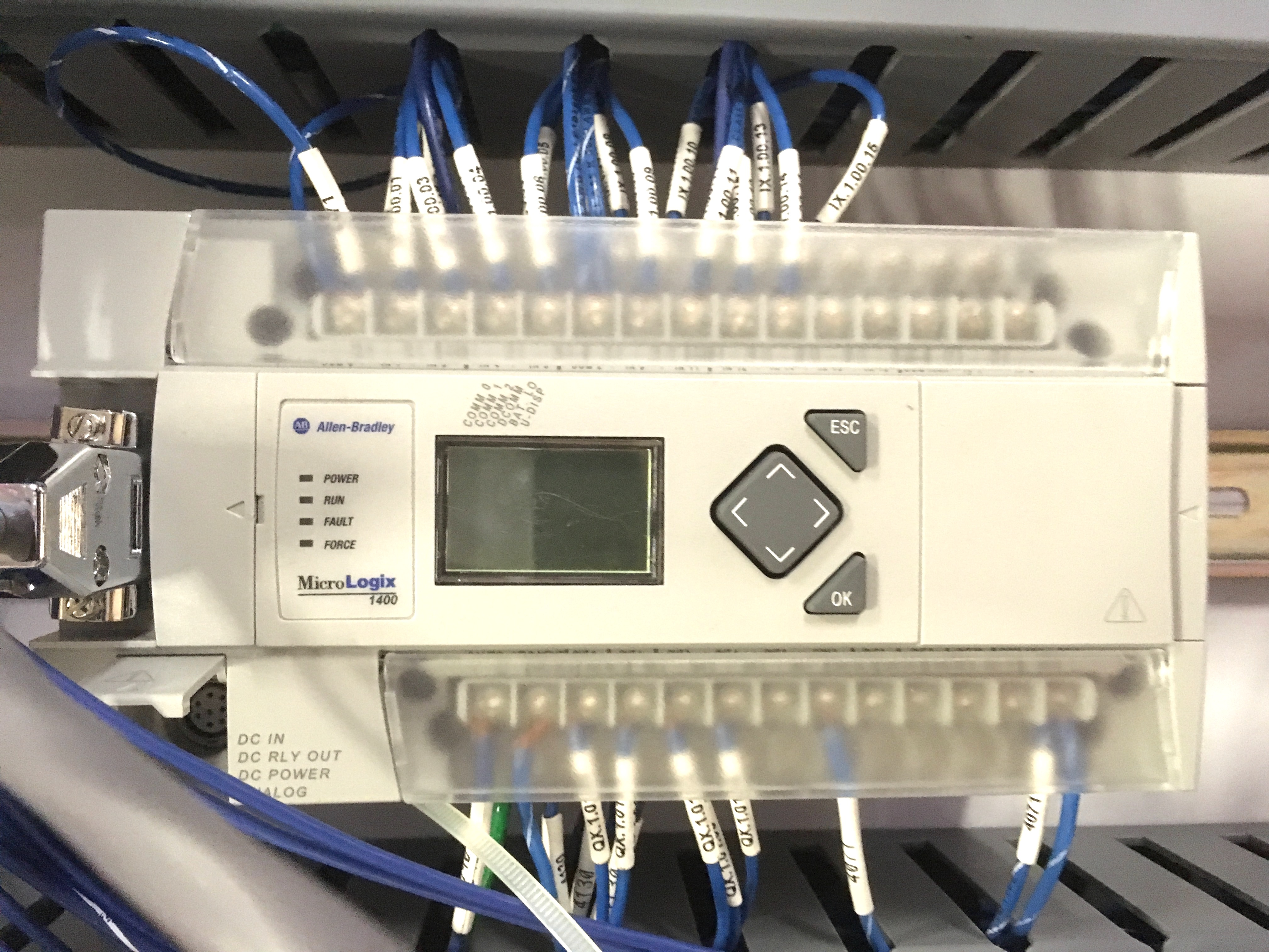 Stainless Steel Control Panel with Allen Bradley Micrologix 1400 ...