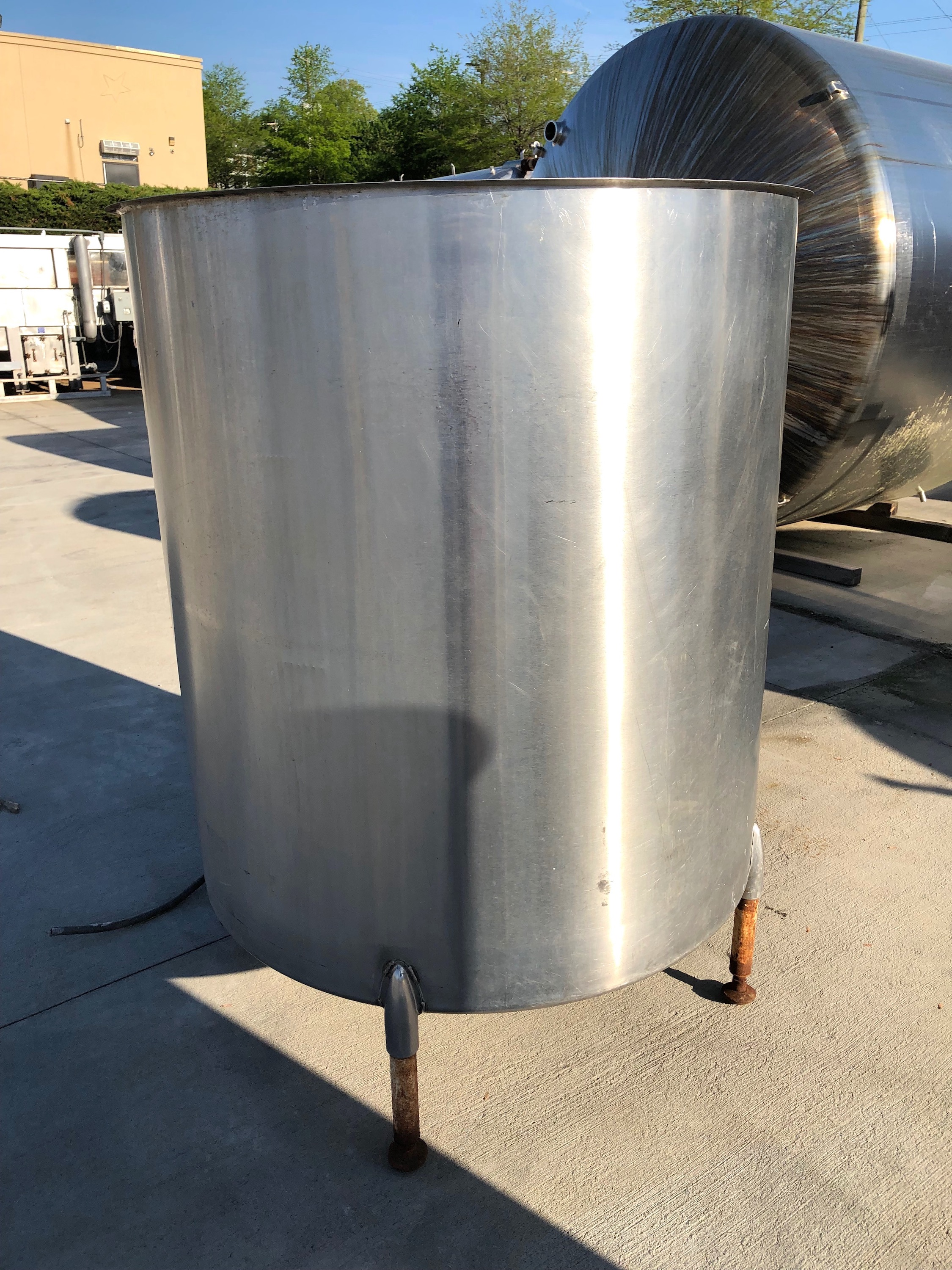 400 Gallon Stainless Steel Open Top Mixing Tank United